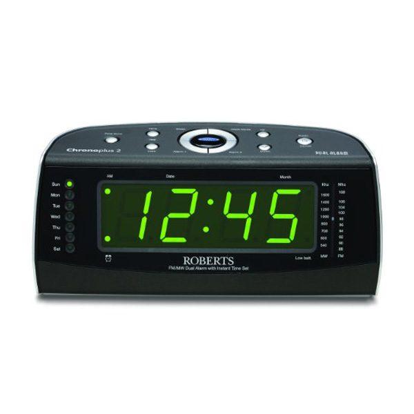 Roberts Chronoplus2 FM/MW Dual Alarm Clock with Instant Time Set-0