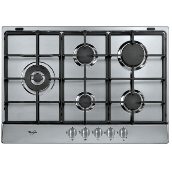 Whirlpool 73cm 5 Zone Gas Hob -Stainless Steel-0