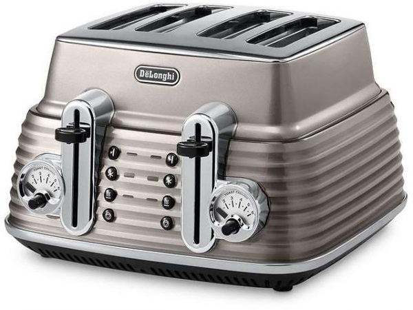 Delonghi Scultura 4 Slice Toaster - Beige-0