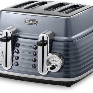 Delonghi Scultura 4 Slice Toaster - Grey-0