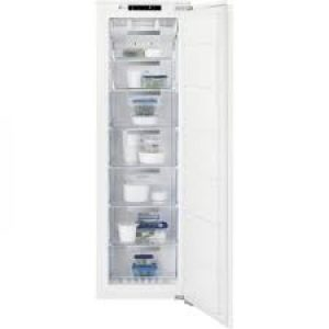 Electrolux 204L Frost Free Built-In Upright Freezer - White -0