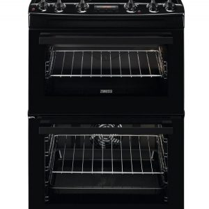 Zanussi 60cm Double Cavity Electric Oven I Black-0