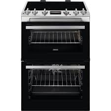 Zanussi 60cm Double Cavity Electric Oven I Stainless Steel-0