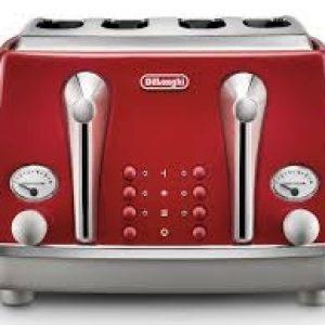 DELONGHI Icona Capitals 4-Slice Toaster - Red-0