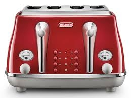 DELONGHI Icona Capitals 4-Slice Toaster - Red-0