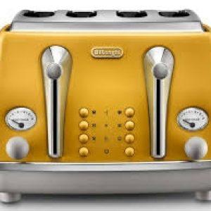DELONGHI Icona Capitals 4-Slice Toaster - Yellow-0