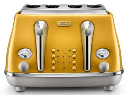 DELONGHI Icona Capitals 4-Slice Toaster - Yellow-0