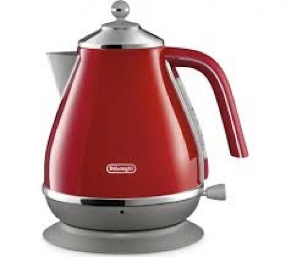 DELONGHI Icona Capitals Jug Kettle - Red-0