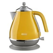 DELONGHI Icona Capitals Jug Kettle - Yellow-0