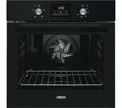 Zanussi Single Built In Electric Oven Black-0