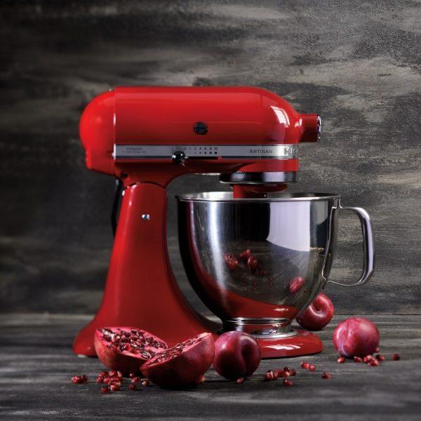 KitchenAid - Artisan 4.8L Stand mixer - Red-17087