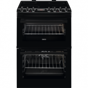 Zanussi 60cm ceramic Hob electric Cooker - Black-0
