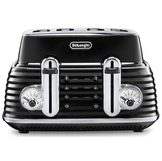 DeLonghi Scultura 4-Slice Toaster, Black-0