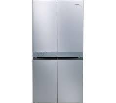 HOTPOINT 4 Door American No Fost Fridge Freezer - Stainless Steel-0